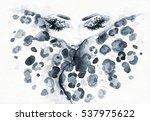 fashion illustration. abstract... | Shutterstock . vector #537975622