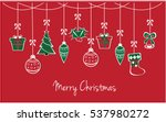merry christmas greeting card... | Shutterstock .eps vector #537980272