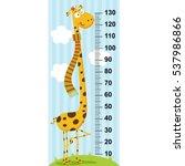 long neck giraffe height... | Shutterstock .eps vector #537986866