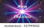 merry christmas golden... | Shutterstock .eps vector #537995032