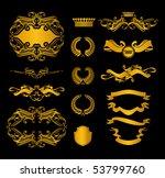 set of heraldic elements  on... | Shutterstock .eps vector #53799760
