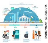 bank infographic  bank building ... | Shutterstock .eps vector #538003945