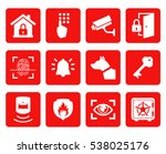 home security icons set....