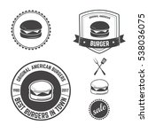 vector set icons of burger fast ... | Shutterstock .eps vector #538036075