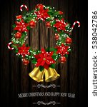 white card with christmas... | Shutterstock .eps vector #538042786