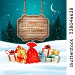 holiday christmas background... | Shutterstock .eps vector #538046638