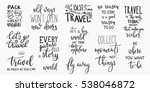 travel life style inspiration... | Shutterstock .eps vector #538046872