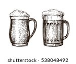 hand drawn beer mug. elements... | Shutterstock .eps vector #538048492