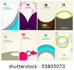 vector set of elegant business... | Shutterstock .eps vector #53805073