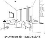 outline sketch drawing... | Shutterstock .eps vector #538056646