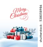 holiday christmas background... | Shutterstock . vector #538058986