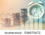double exposure of city  graph  ... | Shutterstock . vector #538075672