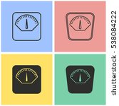 scale vector icons set.... | Shutterstock .eps vector #538084222