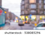 blurred image of the street ... | Shutterstock . vector #538085296