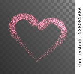 shining heart with pink lights... | Shutterstock .eps vector #538085686