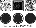 grunge post stamps collection ...   Shutterstock .eps vector #538090186