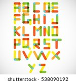 abstract digital letters.... | Shutterstock .eps vector #538090192