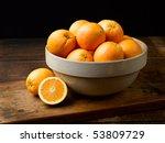 Oranges In Antique Crock On...