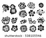 flower set | Shutterstock .eps vector #538105546