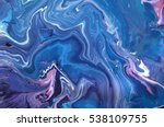 blue and violet colours. liquid ... | Shutterstock . vector #538109755