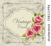 beautiful invitation card with... | Shutterstock .eps vector #538111996