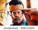 closeup portrait of young man... | Shutterstock . vector #538113265