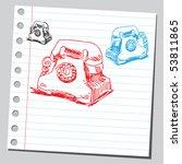 Scribble Old Phones