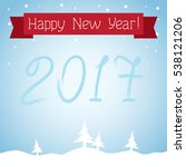 postcard happy new year  | Shutterstock .eps vector #538121206