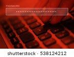 typing online account password... | Shutterstock . vector #538124212