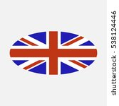 british flag oval vector | Shutterstock .eps vector #538124446
