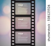 film strip design with your... | Shutterstock .eps vector #538125526