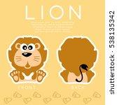 Lion   Cute Animal   Vector...