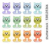 cat   cute animal   vector... | Shutterstock .eps vector #538135366