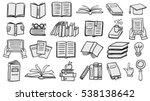 books doodles | Shutterstock .eps vector #538138642