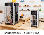 3d printers on display at... | Shutterstock . vector #538147465