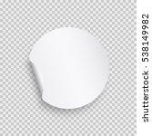 sticker with peel off corner... | Shutterstock .eps vector #538149982