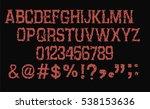 horror font   vector | Shutterstock .eps vector #538153636