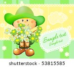 holyday card with boy and...   Shutterstock .eps vector #53815585