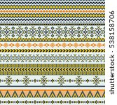 ethnic seamless pattern with...   Shutterstock .eps vector #538158706