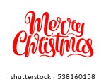 Vector Merry Christmas Text...