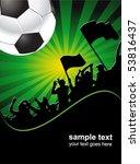 football fans crowd | Shutterstock .eps vector #53816437