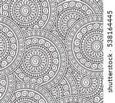 Doodle Background In Vector...