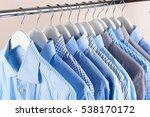 clothes hang on a shelf . cloth ... | Shutterstock . vector #538170172
