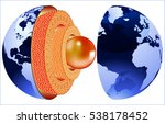 structure of the earth | Shutterstock .eps vector #538178452