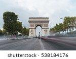 triumphal arch. paris. france.... | Shutterstock . vector #538184176