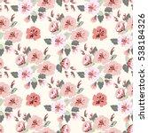 seamless cute pattern of summer ... | Shutterstock .eps vector #538184326