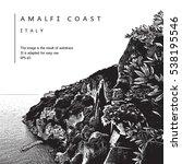 amalfi coast  italy. vector... | Shutterstock .eps vector #538195546