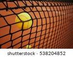 tennis ball in the tennis net....   Shutterstock . vector #538204852