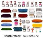 big set furniture 3d vector... | Shutterstock .eps vector #538226872