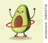 cute avocado cartoon character... | Shutterstock .eps vector #538242718